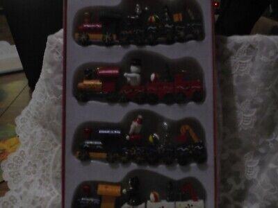 Christmas ornaments, wooden, train set,