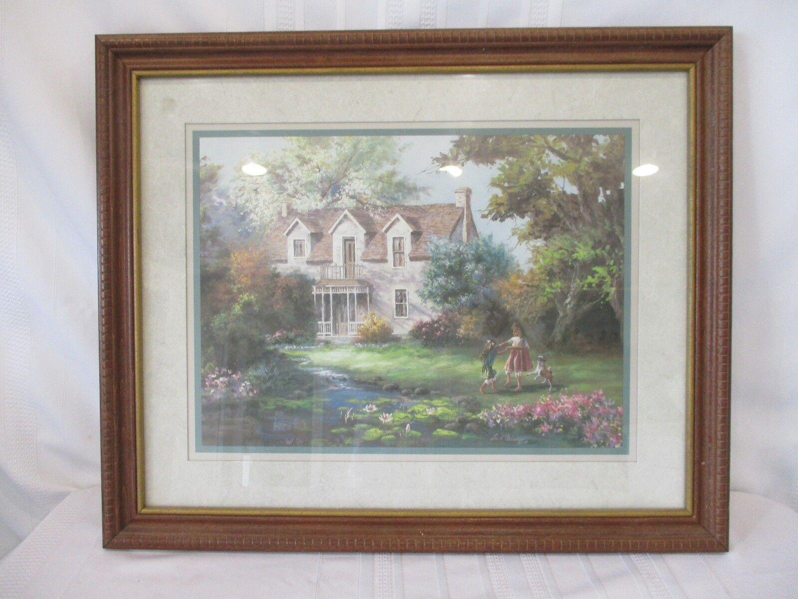 "Framed Lee K Parkinson Print  ""Country Living"" - 22 1/2"" x 18 1/2"""