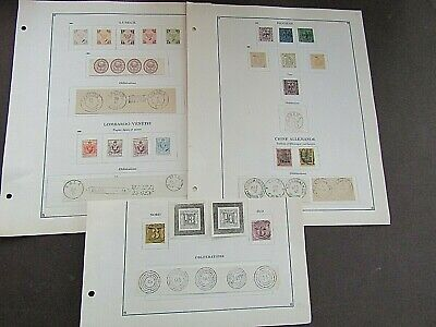 GERMAN/ITALIAN STATES - FINE COLLN OF EARLY FOURNIER FORGERIES ON ORIGINAL PAGES