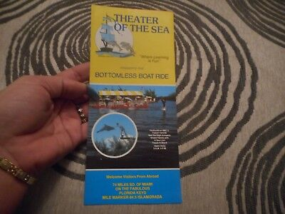Vintage Theater of the Sea Bottomless Boat Ride