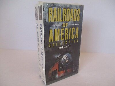 Railroads of America Collection: Volumes 1 & 2 (VHS) Trains Locomotives - New