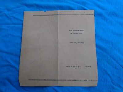 WWII home front Post Exchange Party 26 January 1945 program