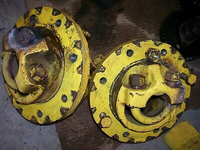 Vintage Oliver Super 55 Gas Tractor - Rear Hubs U Bolts - As - Is -1958