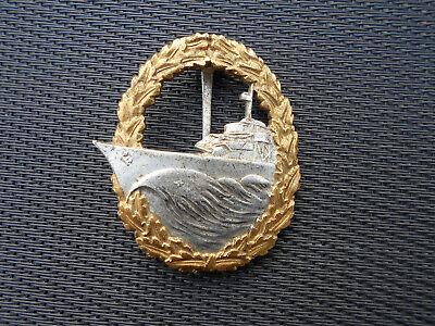 Zerstörer Kriegsabzeichen Ausführung 1957 /1957iger Fertigung für die Bundeswehr