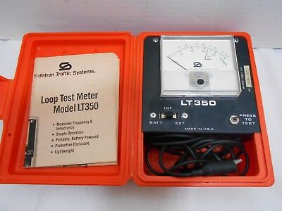 Vintage Safetran Traffic Systems Loop Test Meter Lt350 Case For Parts Repair