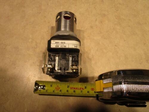 ALLEN BRADLEY 800T-QA10 AMBER PILOT INDICATOR LIGHT PUSH BUTTON, 120V, E0672