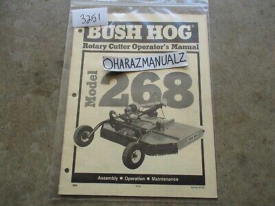 Bush Hog Model 268 Rotary Cutter Operators Manual