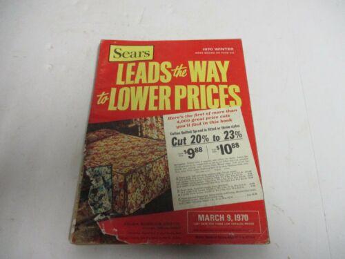 Vtg 1970 Sears Roebuck & Company Winter Sale Catalog Fashions Linens Lighting