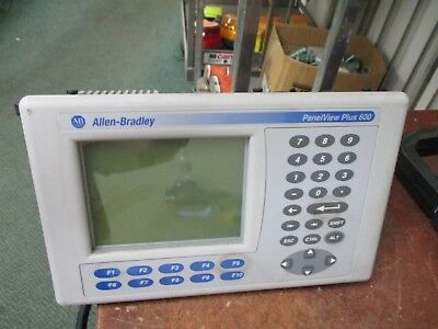 Allen-bradley Panelview Plus 600 2711p-k6m1d Ser B 24vdc 25w Used