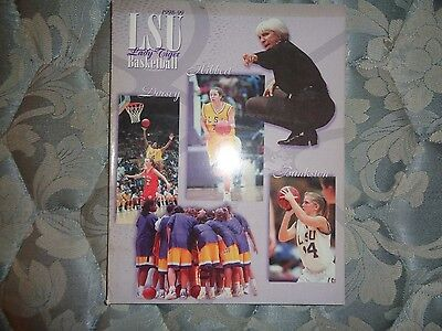 1998-99 LSU LADY TIGERS BASKETBALL MEDIA GUIDE 1999 Yearbook Program College AD