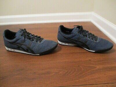 Used Worn Size 12.5 Asics Onitsuka Tiger Ultimate 81 Shoes Blue Black Platinum
