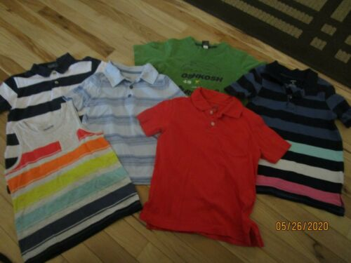 EUC LOT OF BOYS SZ  5T  - 6 - SHIRTS POLO, OLD NAVY,  OSHKOSH, & CARTERS