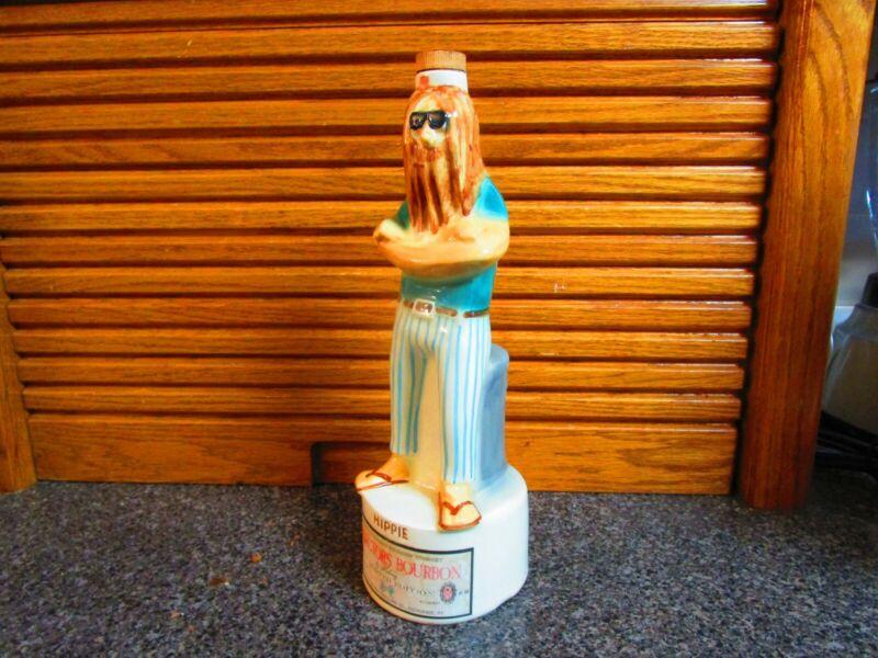 Vintage 1968 Royal Enfield Maloney Bourbon Liquor Empty Decanter Hippie