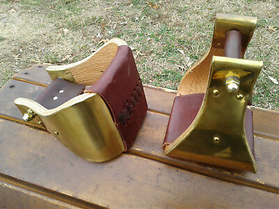 """5"""" Brass Monel Bell Ranch Roping Saddle Stirrups"""