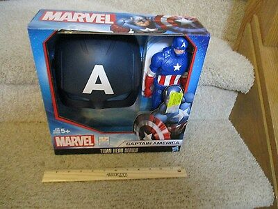 Marvel Titan Hero Series Captain America Figure and Mask Avengers dress up NEW - Captain America Mask And Shield