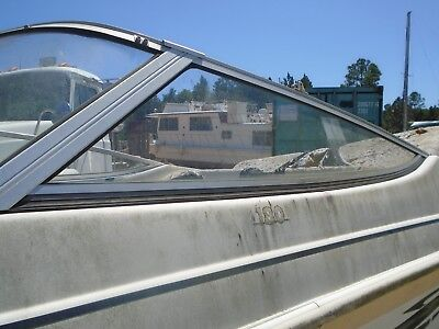 Aquatron 180 Bow Rider Boat Port Side Windshield, THIS SINGLE PIECE ONLY