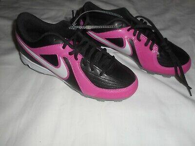 509e10f0346f Girls Nike Softball Black/Pink Unify Keystone Cleats Shoe Size 3.5Y