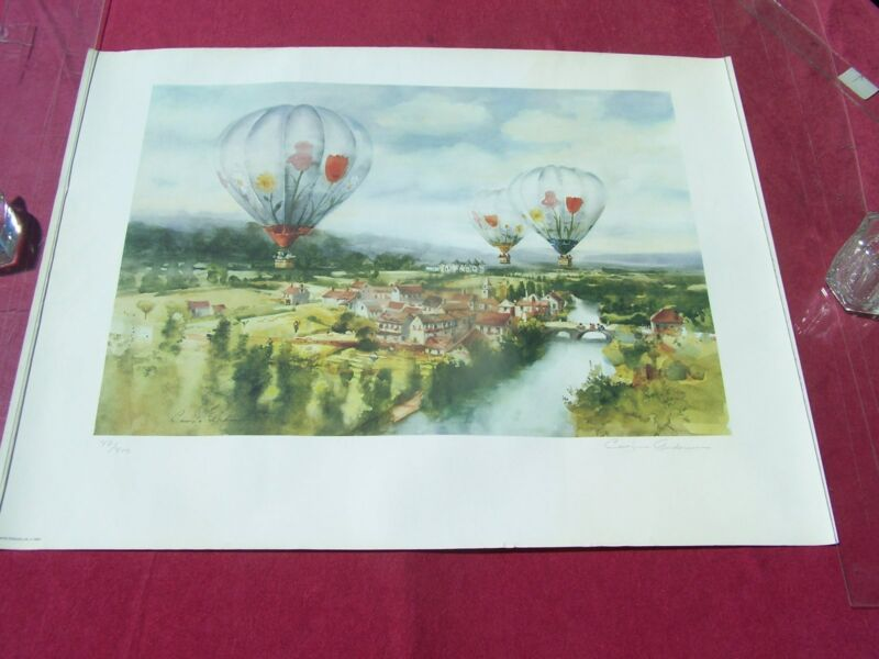 Carolyn Anderson- 1984 Water color-Limited Edition print, Balloon Air Races