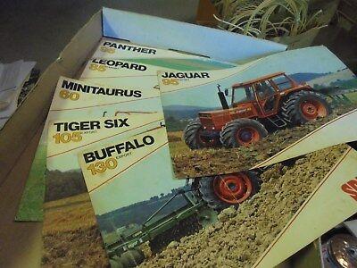 Vintage Lot of Six Same Tractor Spec Sheets Panther Leopard Jaguar Buffalo Tiger
