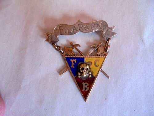 Antique 1906 Knights of Pythias Rob. E Cowan Lodge 131 Enamel Presentation Medal
