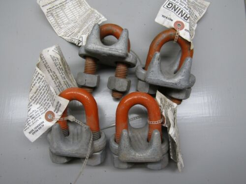 Crosby Drop Forged 7/8 Wire Rope Clip Lot of 4!