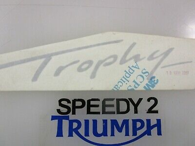 TRIUMPH TROPHY SIDE FAIRING PANEL DECAL BLACK RIGHT HAND T2302313