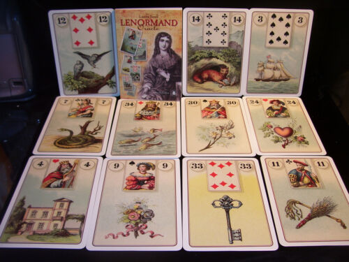 SEALED NEW! LENORMAND CARD & BOOK ORACLE EUROPEAN CARTOMANCY FORTUNETELLING