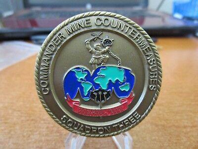 Commander Mine Countermeasures Squadron Three MCMRON 3 USN Challenge Coin #4074
