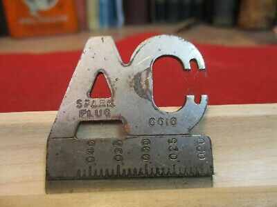 Vintage AC Delco Spark Plug Gapper # GG10 Automotive Metal Gauge GAP SET