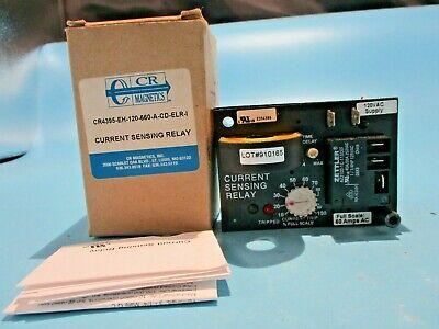 New Cr Magnetics Cr4395-eh-120-660-a-cd-elr-i Current Sensing Relay 120v