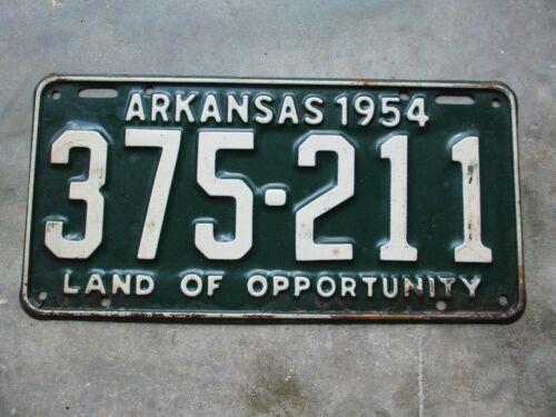 Arkansas 1954 license plate  #  375 - 211