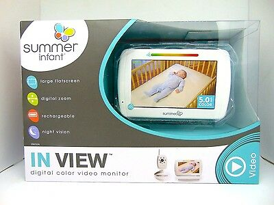 Summer Infant In View Digital Color Video Baby Monitor 5.0in NEW!!
