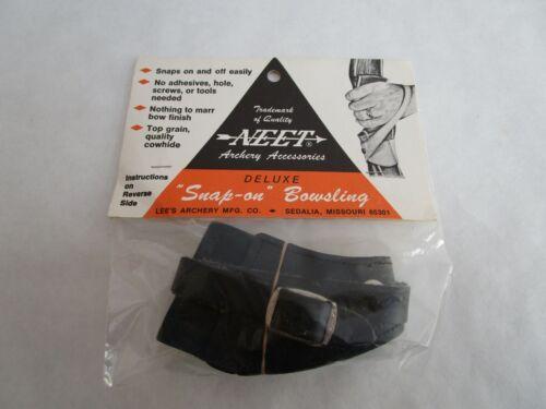 Vintage NEET Snap On Cowhide Bow Sling -  Black
