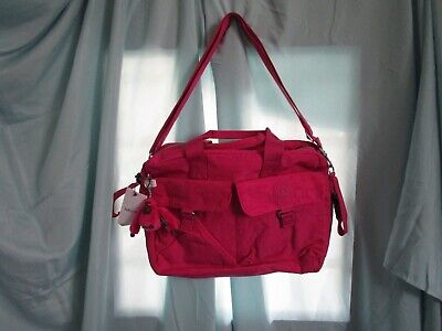 Kipling NWT Very Berry Pink Baby Diaper Bag with Arno Gorilla Keychain