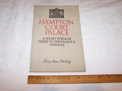 Garden Hampton Court Palace - 1938 HAMPTON COURT PALACE & GARDEN Guide with Maps & Pictures