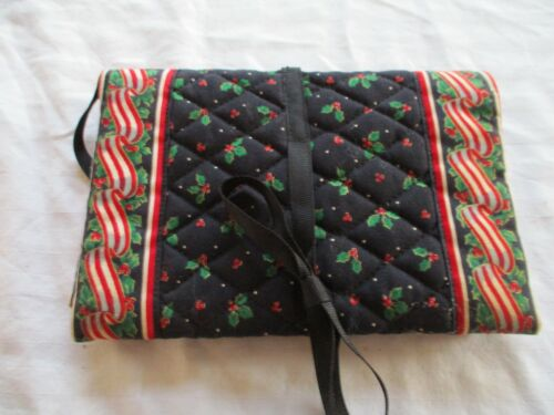 Vintage Vera Bradley Christmas Book Cover Ribbons & Holly Holiday  Indiana