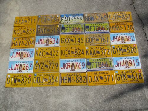 30 Alaska license plate lot for collecting or decorating man cave