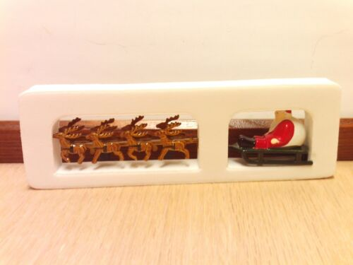 """DEPT. 56 """"UP ON THE ROOFTOP"""" SANTA IN HIS SLEIGH WITH REINDEER"""