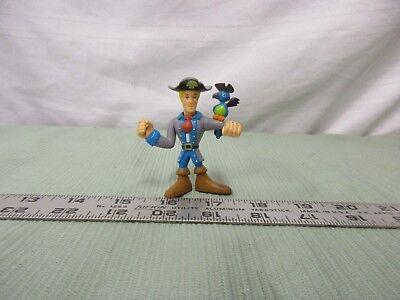Scooby Doo Pirates Freddie w/ Parrot vest blue - Fun Parrot Hat