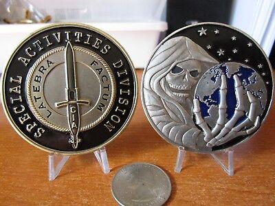 Special Activities Division CIA SAD SOG Clandestine Grim Reaper Challenge Coin