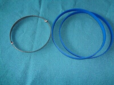 """2 BLUE MAX BAND SAW TIRES AND 1/4"""" BAND SAW BLADE FOR WEN 39"""
