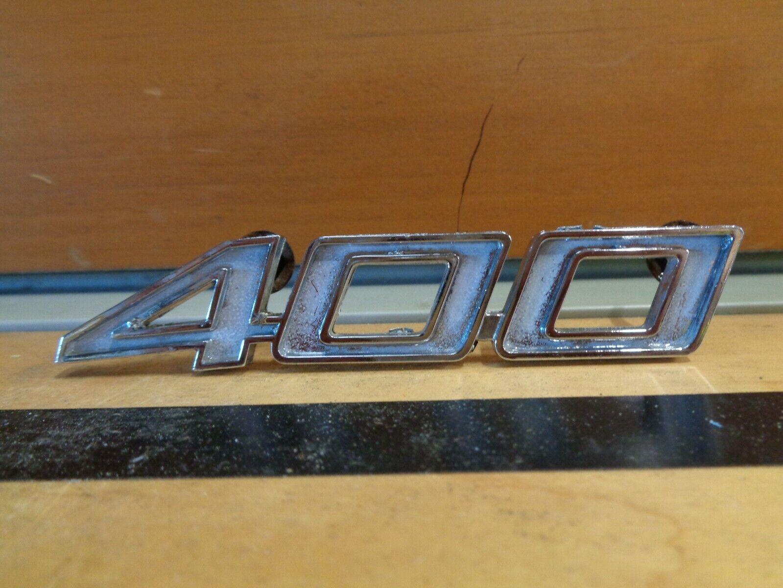 1 PAIR 1970-1974 Chevrolet Chevelle Impala 400 Fender Emblems Right & Left hand
