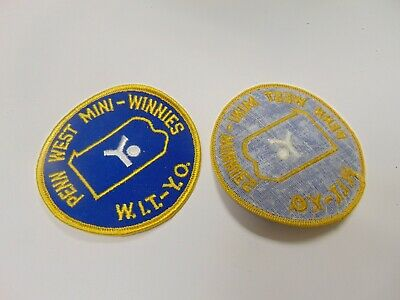 PATCH SEW ON OLDER PENN WEST MINI WINNIES W.I.T.-Y.O., used for sale  Shipping to Ireland