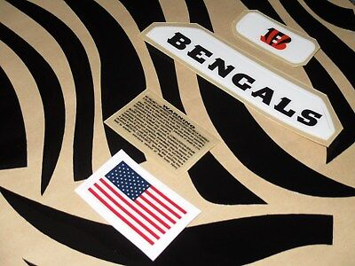 CINCINNATI BENGALS Football Helmet Decal Set 3M - Bengals Helmet