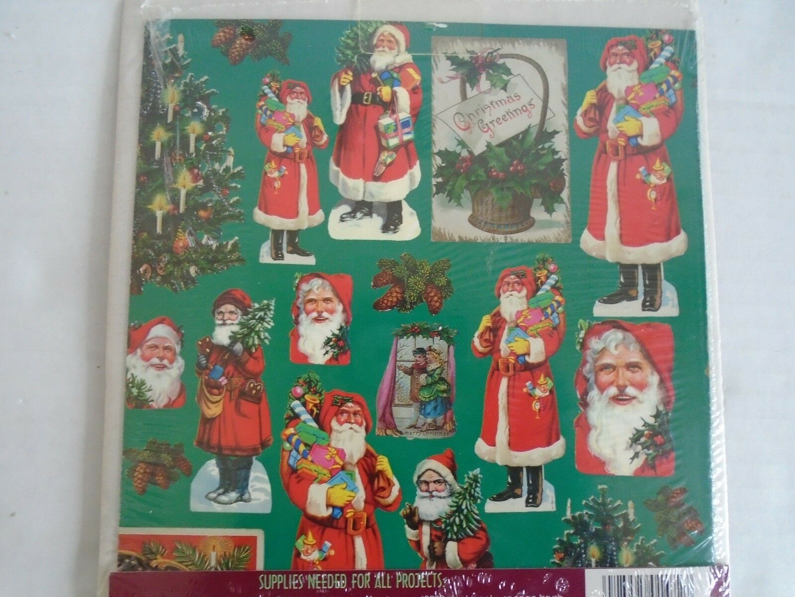 PLAID Victorian Santa Decoupage Paper Projects 1472 1994 BRAND NEW SHIP FAST - $7.79