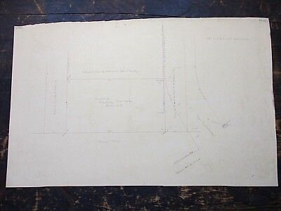 1910 Hand Drawn Survey, Cambridge Iron Works, Cambridge, MA - Ames St, MIT Area