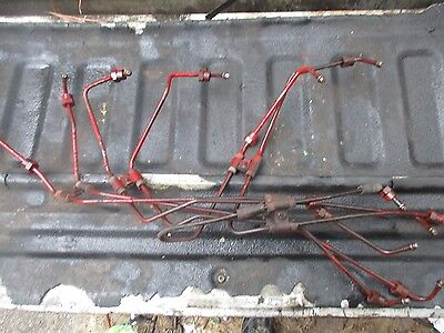 1975 International 1566 Diesel Farm Tractor Turbo Injector Fuel Lines Free Ship