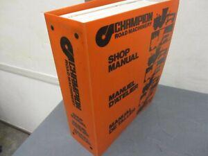 CHAMPION 700 SERIES MOTOR GRADER  SHOP MANUAL BOOK