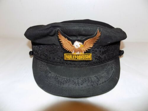 Harley Davidson VTG Embroidered Cabbie Captains Cap