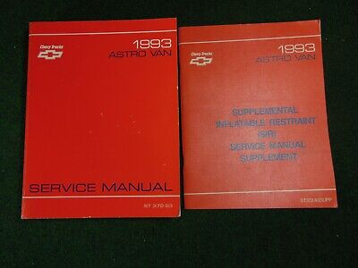 1993 Chevrolet Astro Van Service Repair Shop Manual ST 372-93 DEALER FACTORY